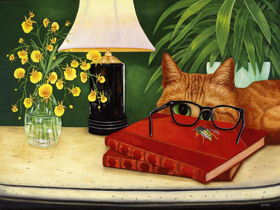 To Bee or Not to Bee Painting by Karen Zuk Rosenblatt
