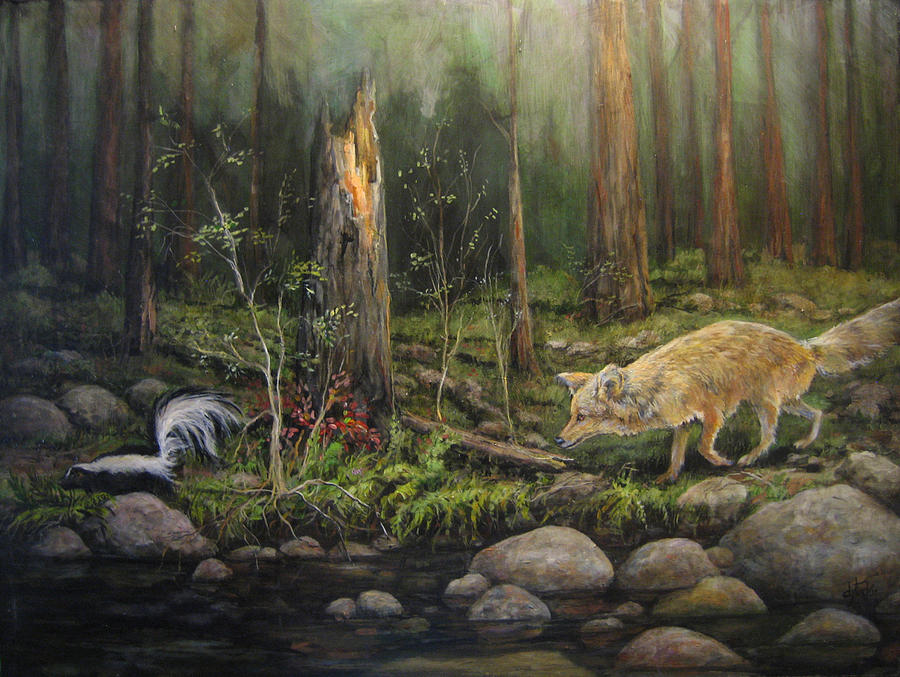 Nature Painting - To Eat Or Not To Eat by Donna Tucker