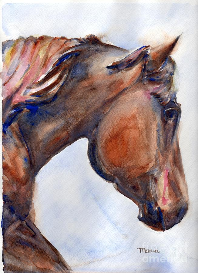 Horse Painting - To Inspire by Marias Watercolor