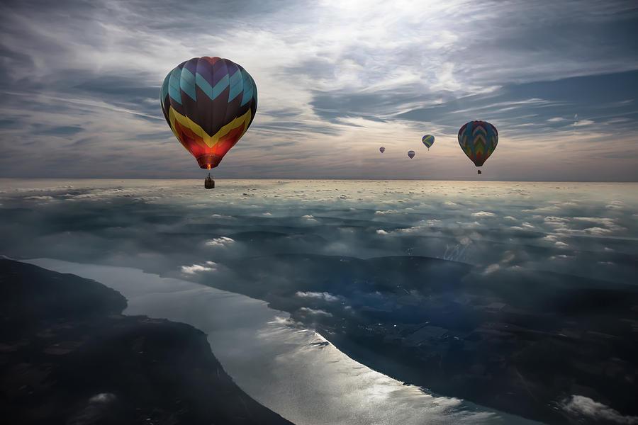 Balloon Photograph - To Kiss The Sky by Heather Bonadio