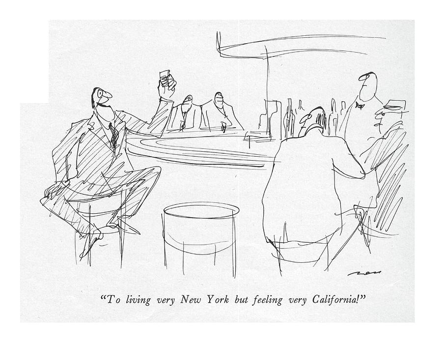 To Living Very New York But Feeling Drawing by Al Ross