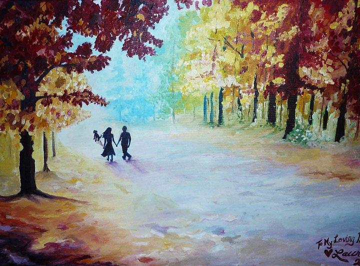 To My Loving Parents Painting by Lauren  Pecor