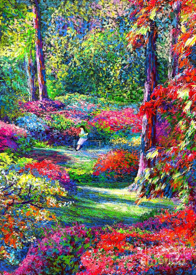 Garden Painting - To Read And Dream by Jane Small