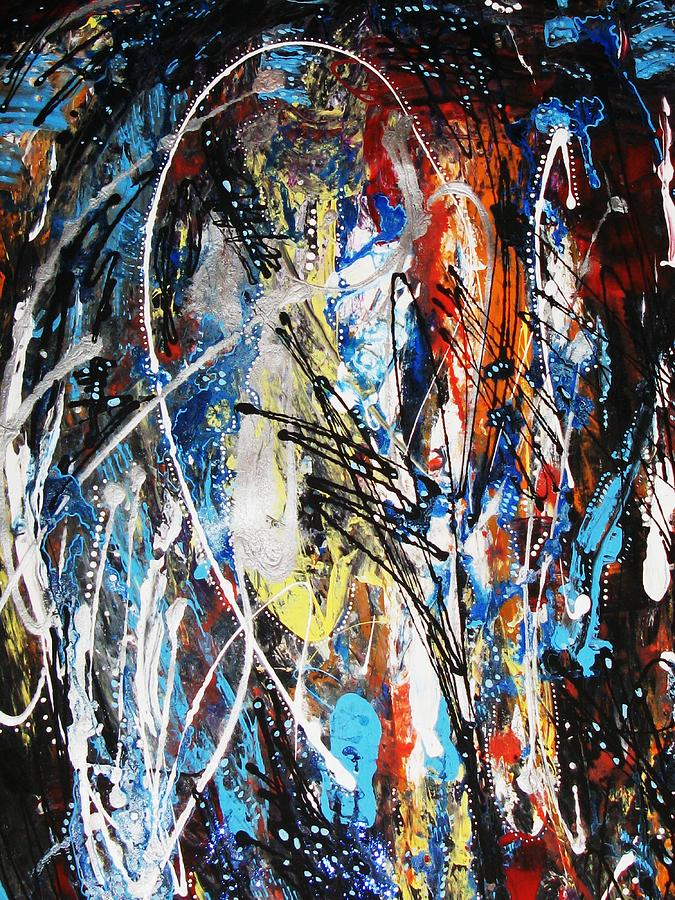 Abstract Mixed Media - To Run Away by Marcelle Hamelin