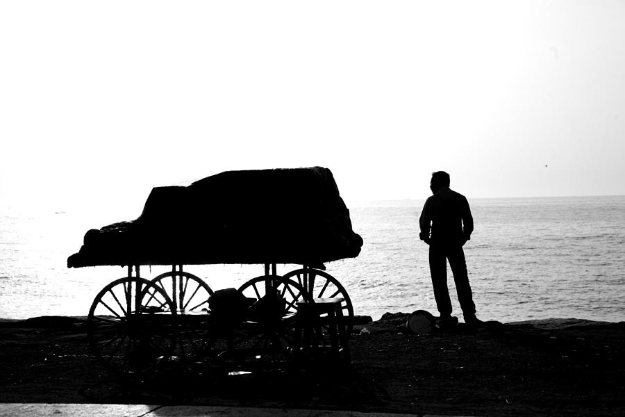 Cart Photograph - To Sea... by Lee Stickels