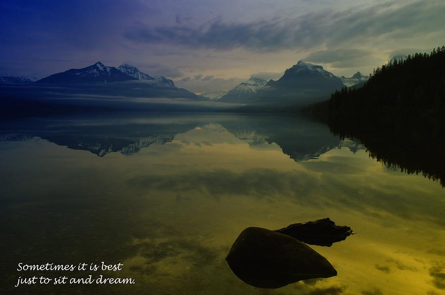 Mountains Photograph - To Sit And Dream by Jeff Swan