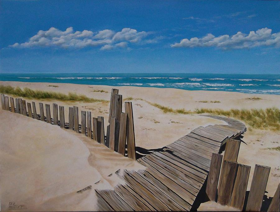 Surf Painting - To The Beach by Paul Bennett