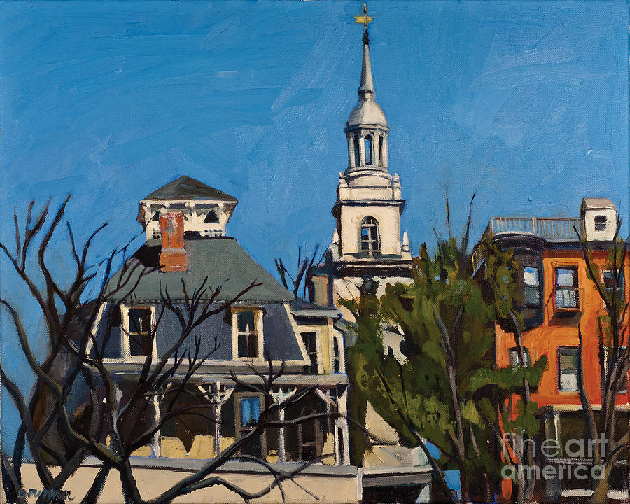 Boston Painting - To The Heights by Deb Putnam