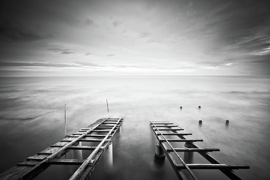 Landscape Photograph - To The Infinity by Claudio Coppari