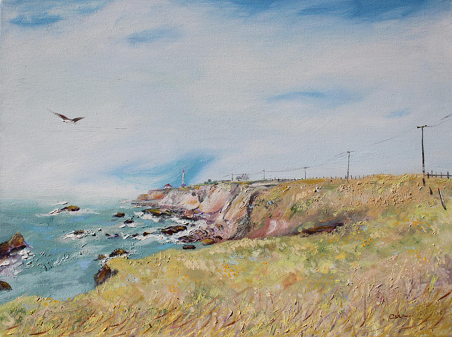 Landscape Painting Painting - To The Lighthouse  Tribute To Virginia Woolf by Asha Carolyn Young