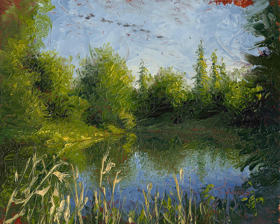Landscape Painting - To The Morning by Timothy Jones