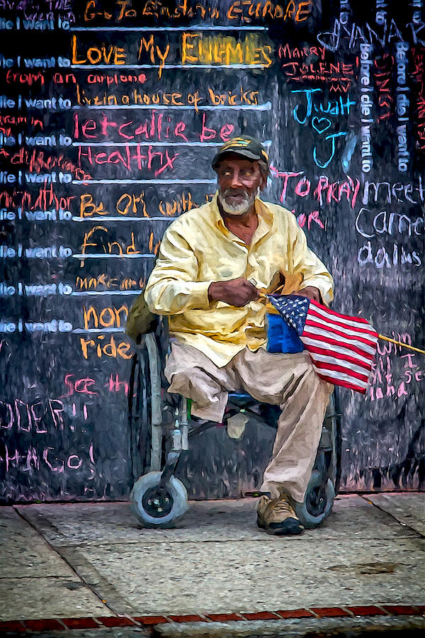 America Photograph - To Those Who Served by John Haldane