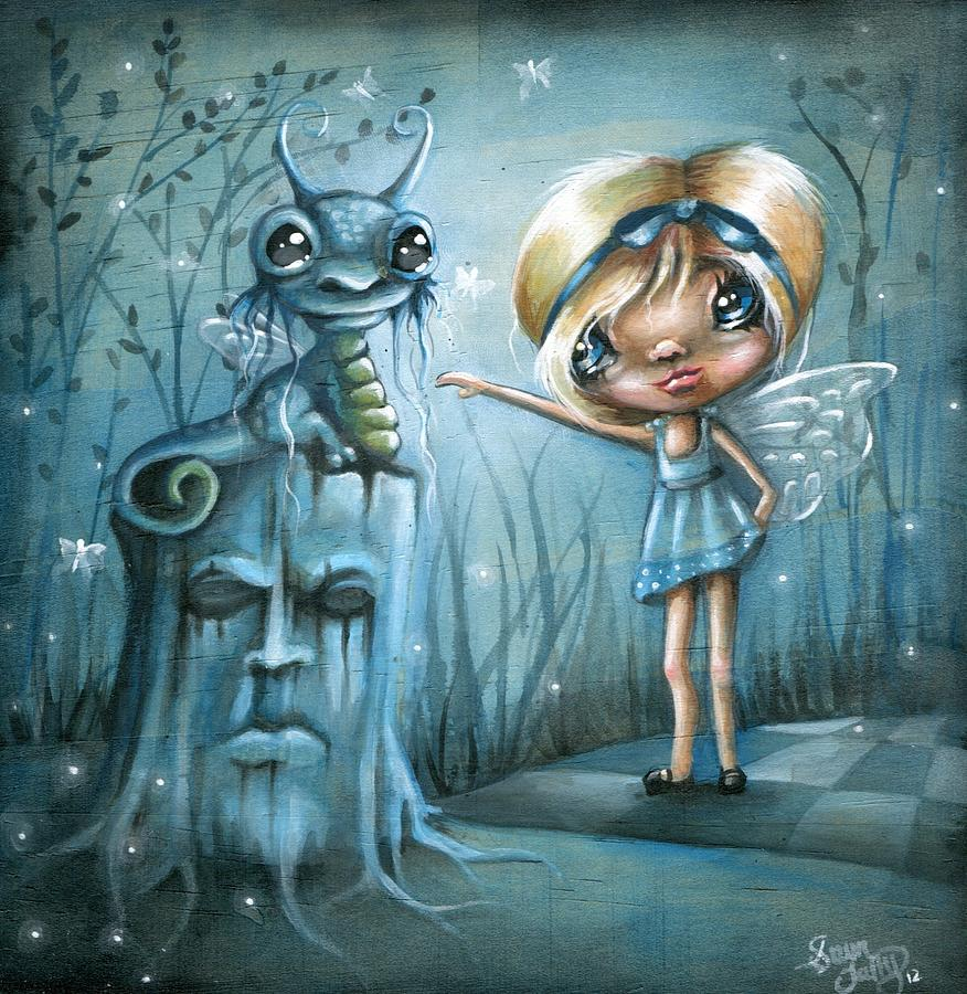 Whimsical Painting - To Touch A Dragon by Sour Taffy