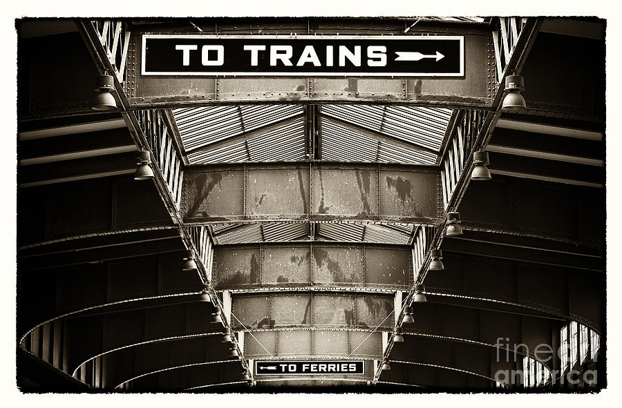 To Ferries Photograph - To Trains by John Rizzuto