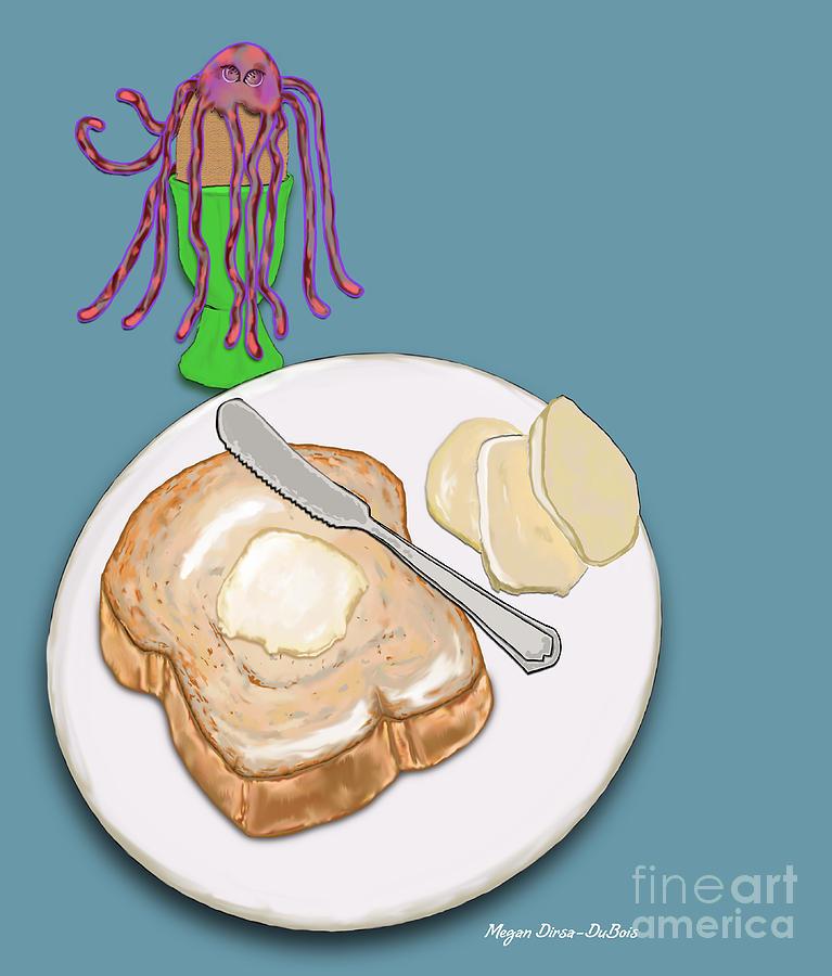 Breakfast Digital Art - Toast And Jelly by Megan Dirsa-DuBois