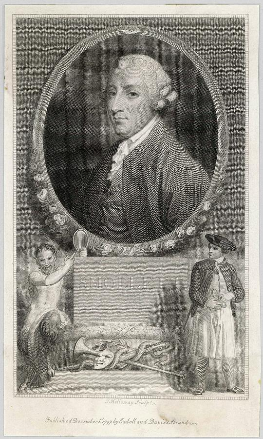 Tobias Drawing - Tobias Smollett (1721 - 1771) - by Mary Evans Picture Library