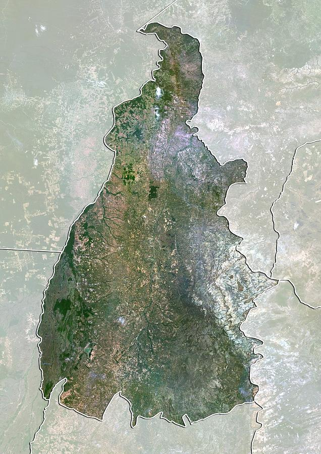 2000 Photograph - Tocantins, Brazil, Satellite Image by Science Photo Library
