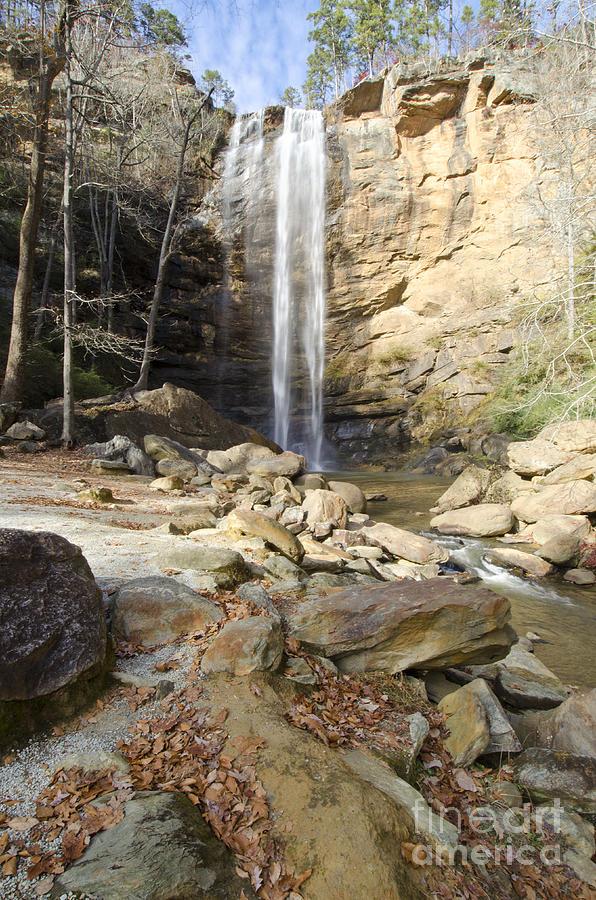Autumn Photograph - Toccoa Falls in Autumn by Debra Johnson