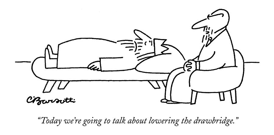 Today Were Going To Talk About Lowering Drawing by Charles Barsotti