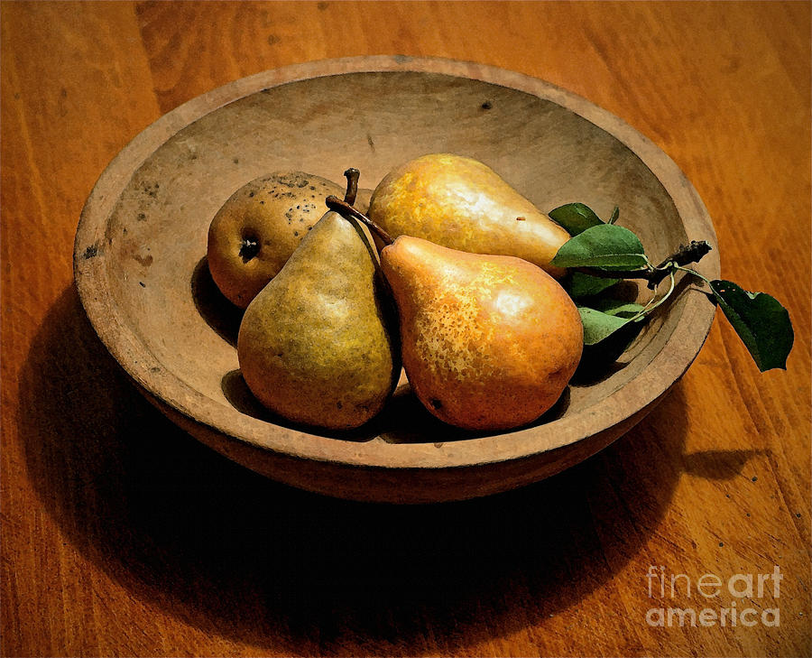 Pears Photograph - Todays Pears by Gwyn Newcombe