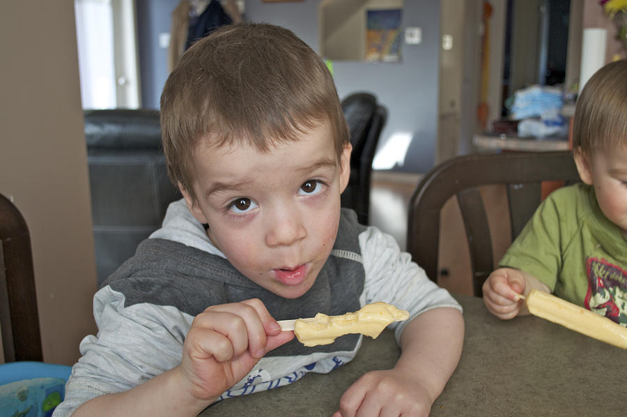 Toddler With Ice Cream Photograph