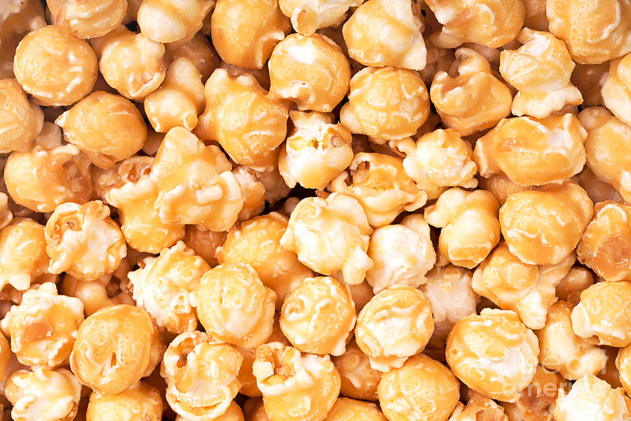 Background Photograph - Toffee Popcorn by Jane Rix