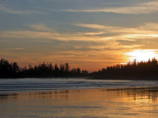 Sunset Photograph - Tofino Winter Sunset by Don F  Bradford