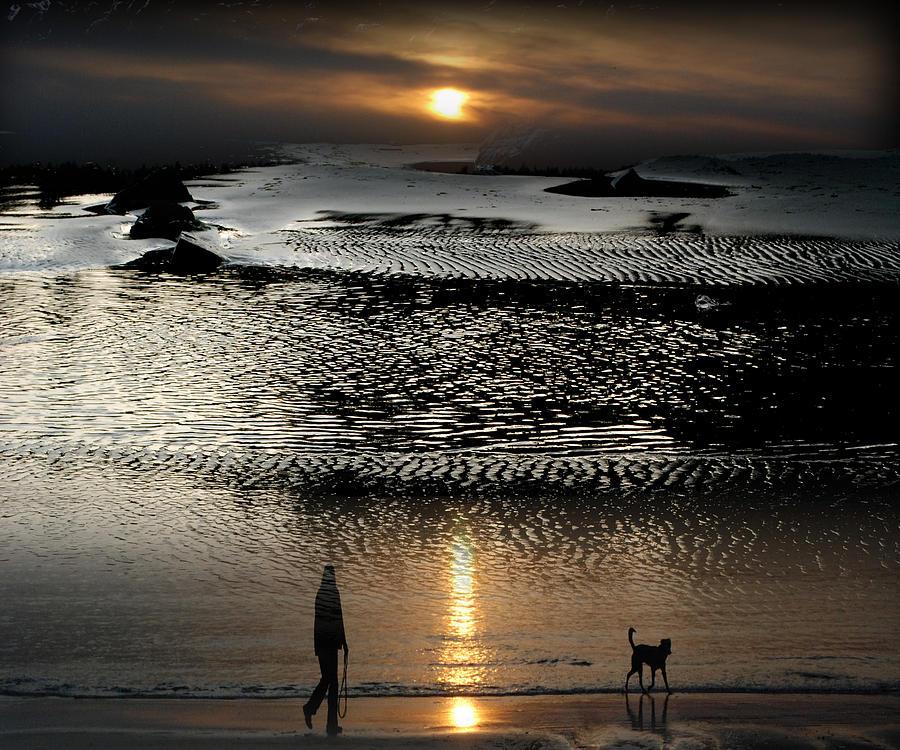 Beach Photograph - Tofinoscape Dusk by Lyn  Perry