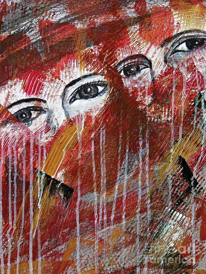 Abstract Painting - Together- Abstract Art by Ismeta Gruenwald