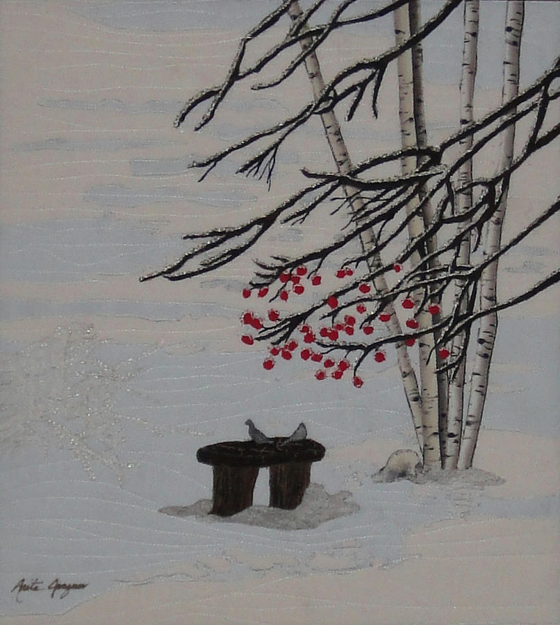 Snow Painting - Together Always by Anita Jacques