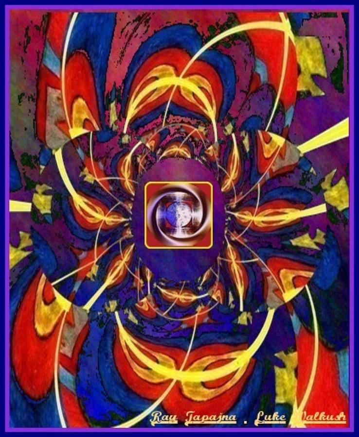 Grandfather Digital Art - Together as one - A Healing in Blue by Ray Tapajna