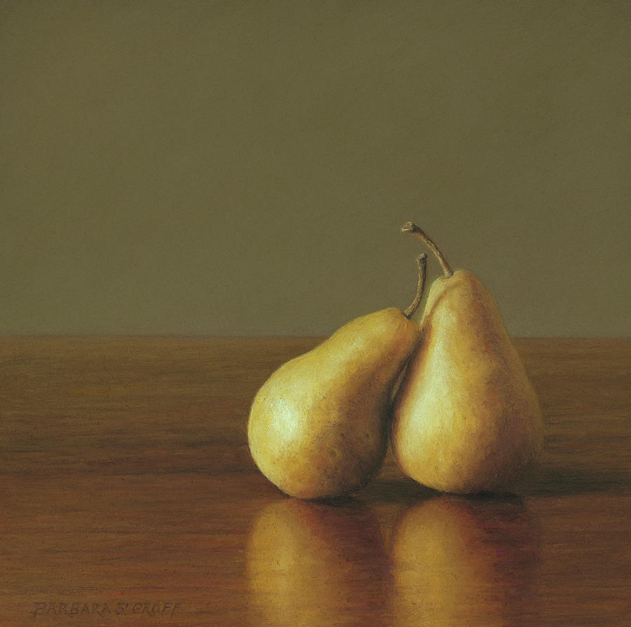 Pears Painting - Together by Barbara Groff