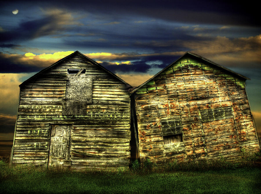 Old Barns Photograph - Together Until The End by Thomas Young