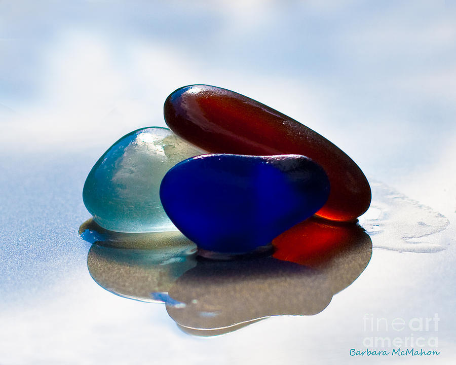 Seaglass Photograph - Together We Are Strong by Barbara McMahon