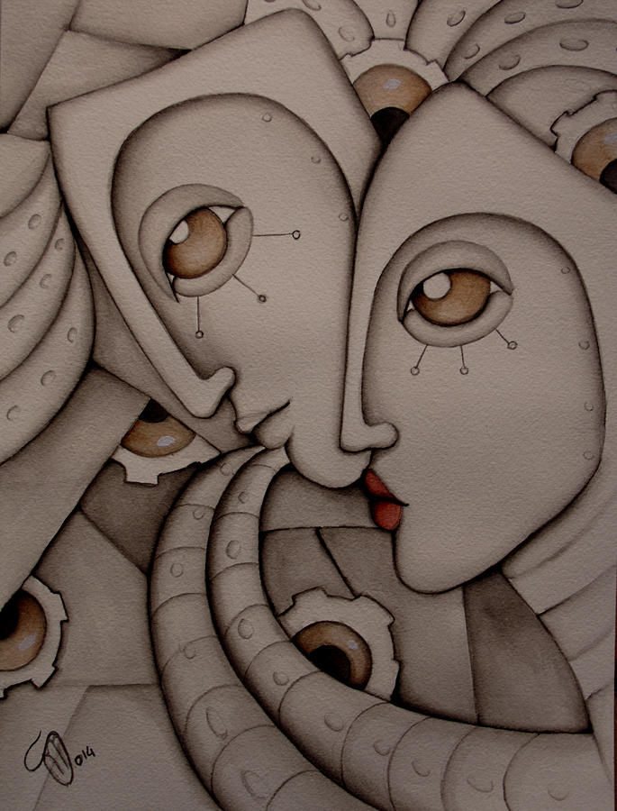 Man Painting - Together We Are Strong by Simona  Mereu