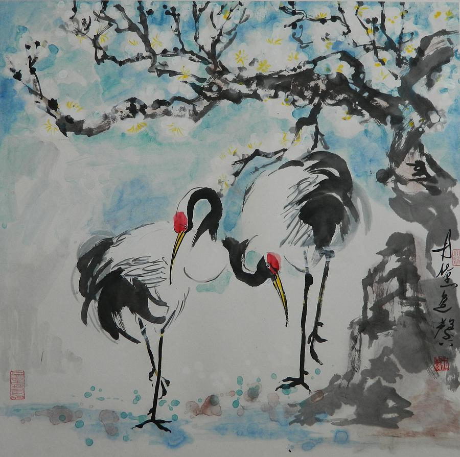 Together with Plum Tree by Min Wang