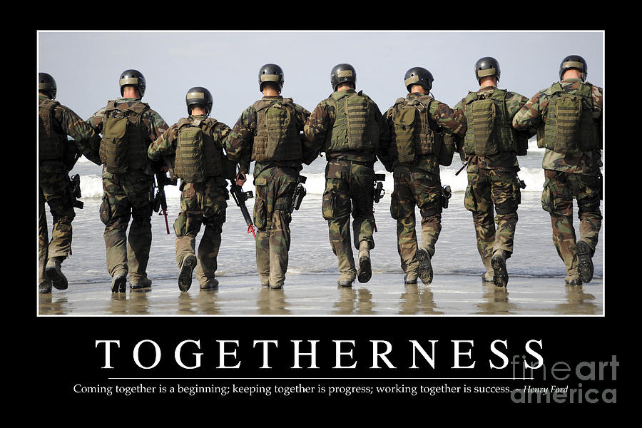 Togetherness Inspirational Quote Photograph By Stocktrek
