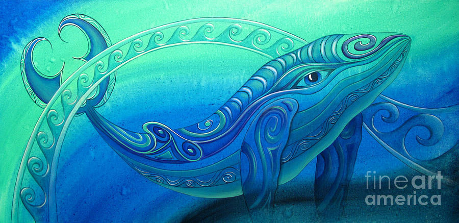 Whale Painting - Whale  by Reina Cottier
