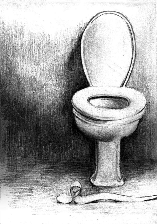 Toilet Drawing By Di Fernandes