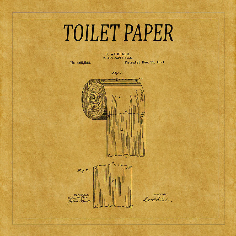 Toilet Paper Patent 1 Photograph by Andrew Fare