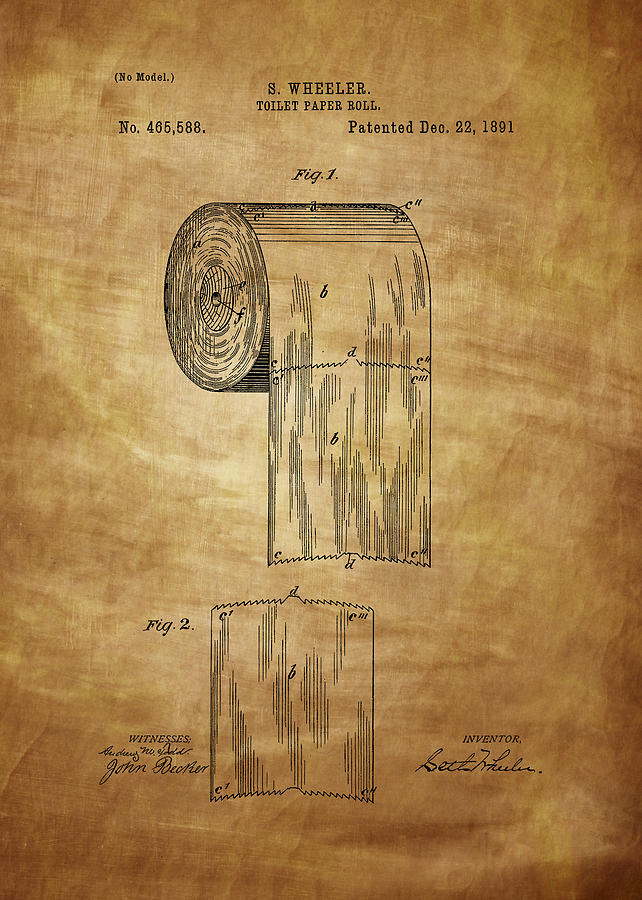 Toilet Paper Roll Patent 1891 Photograph By Chris Smith