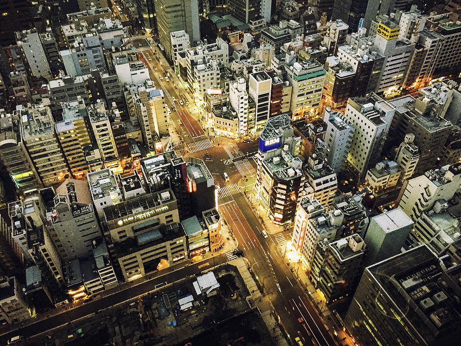 Tokyo Aerial View Street Photograph by Franckreporter