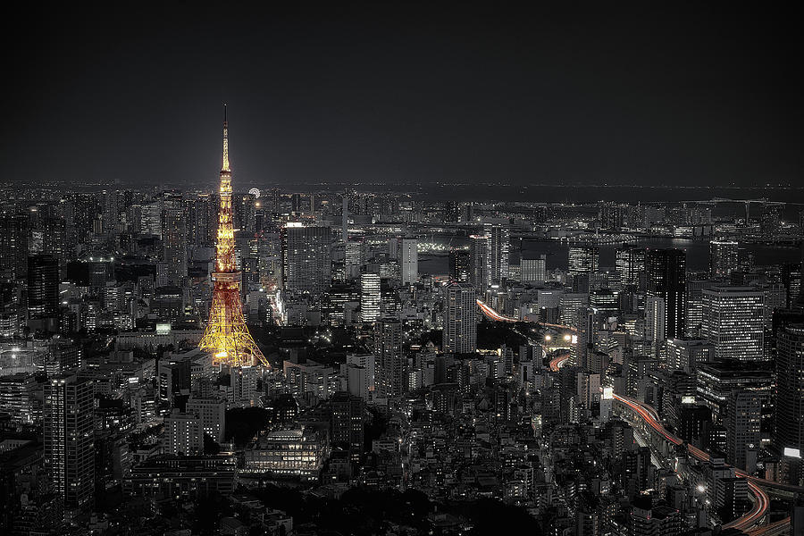 Cityscape Photograph - Tokyo At Night by Carlos Ramirez