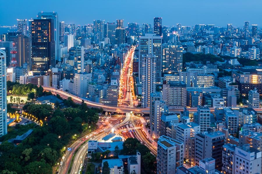 Tokyo City View From Tokyo Tower At Photograph by Photography By Zhangxun