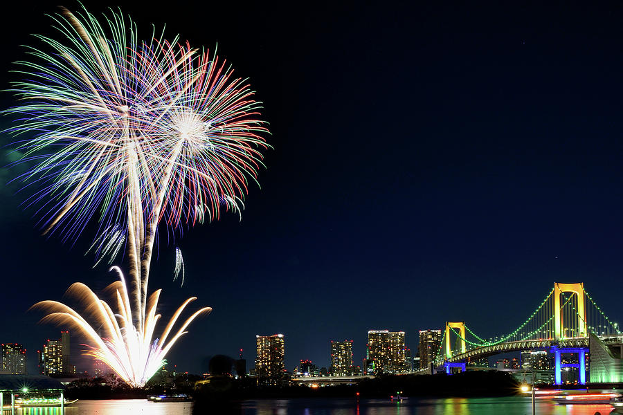 Tokyo Fireworks Photograph by Vladimir Zakharov