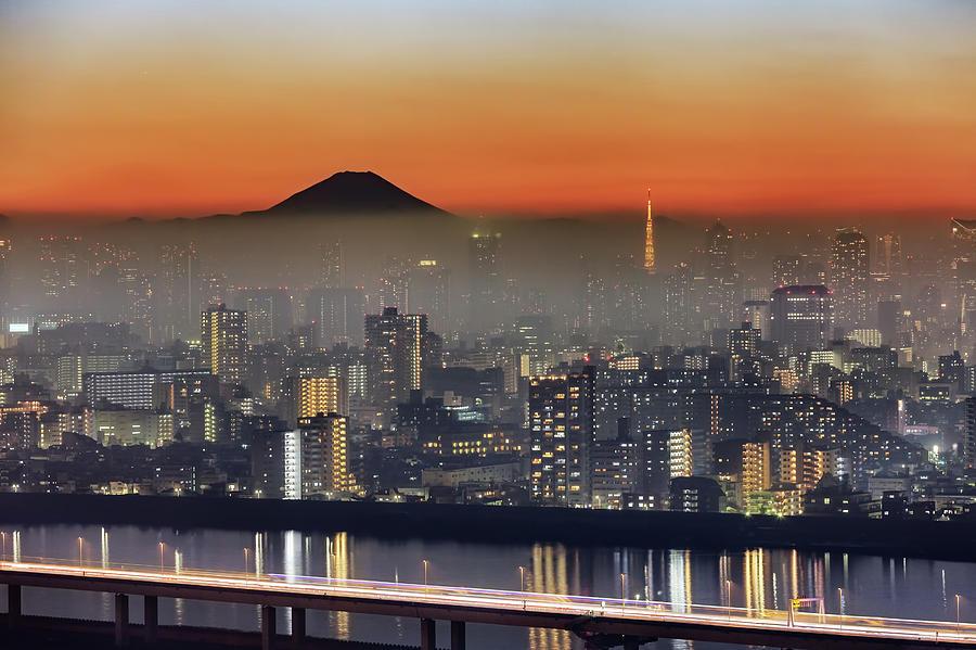 Tokyo Mt Fuji Fog Photograph by Krzysztof Baranowski