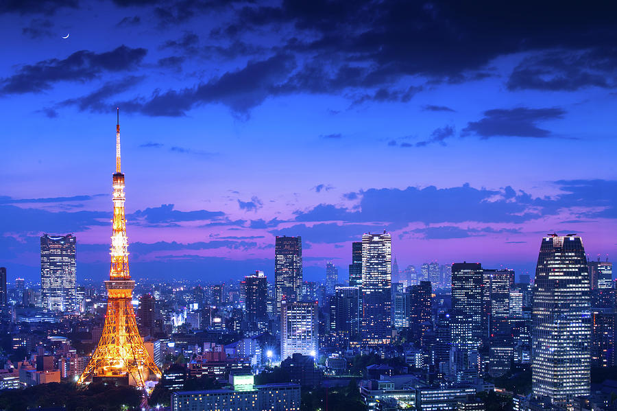 Tokyo Night View Photograph by Takao Kataoka