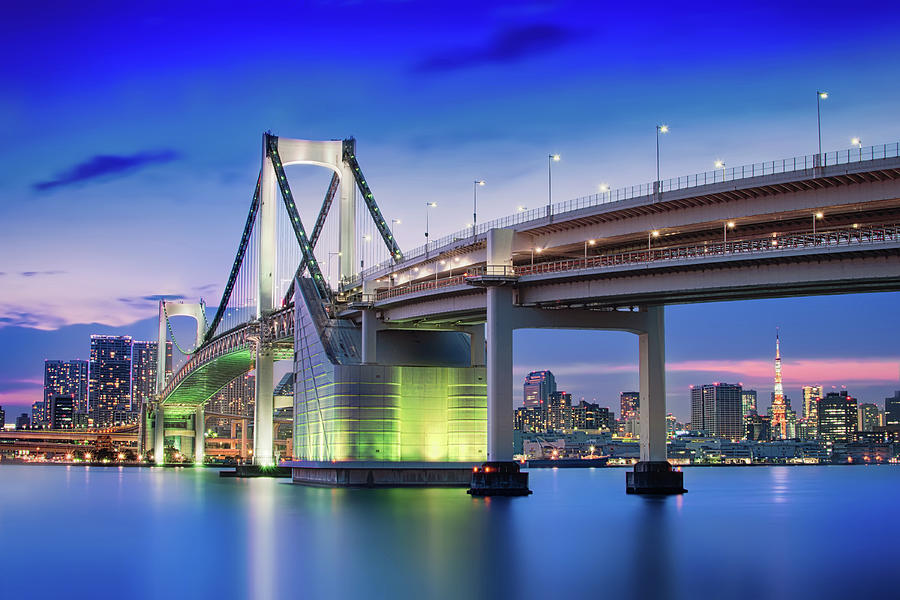 Tokyo Rainbow Bridge Photograph by Image Provided By Duane Walker