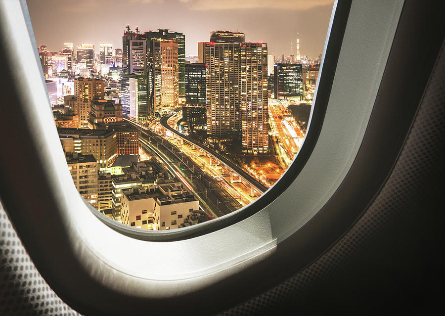 Tokyo Skyline From The Airplane Photograph by Franckreporter