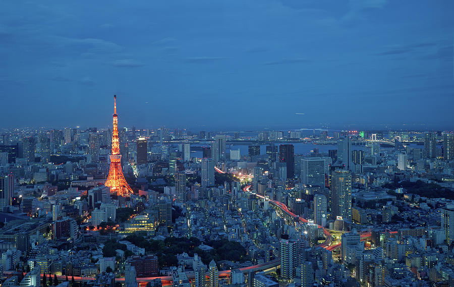 Tokyo Skyline With Tokyo Tower Landmark Photograph by Yat Lee